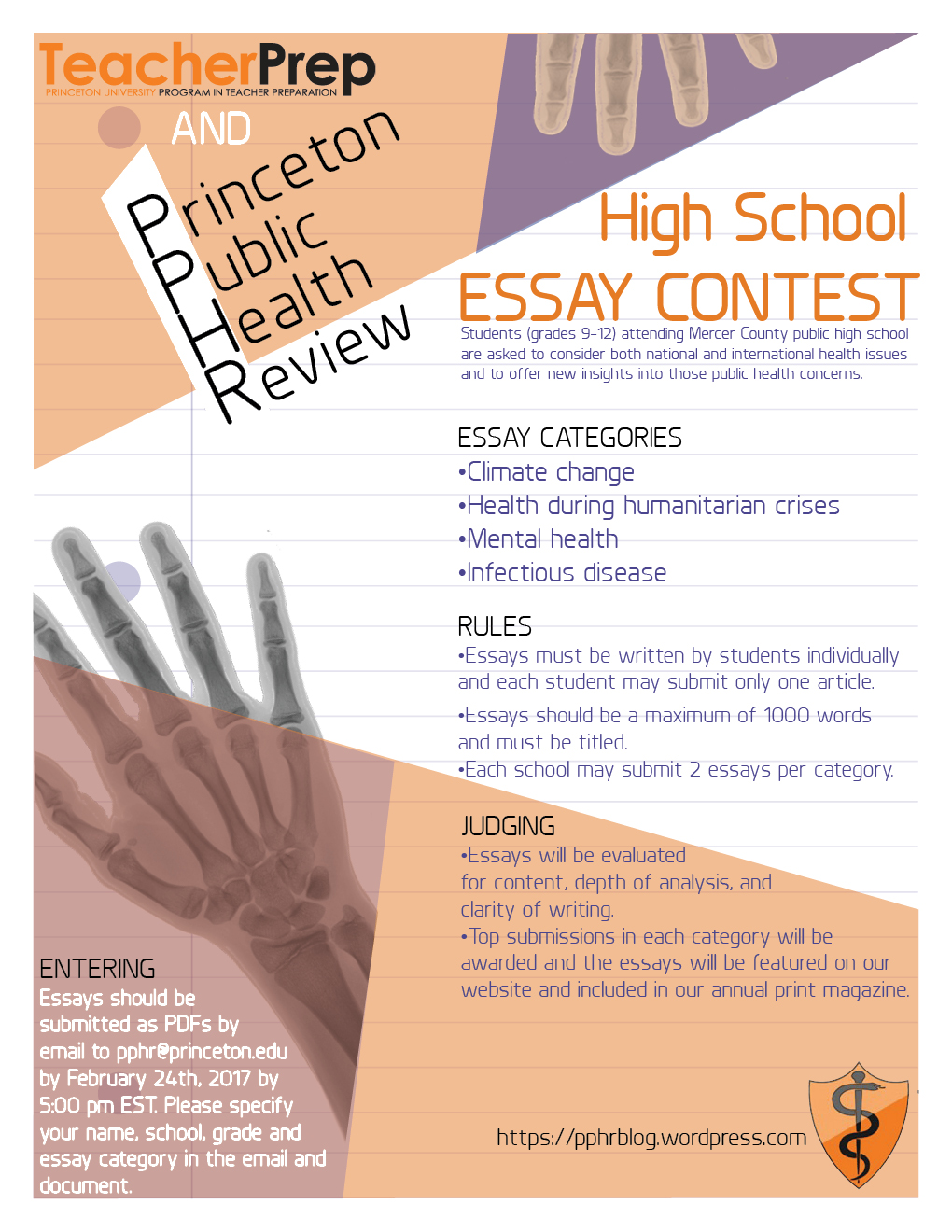 Public Health High School Essay Contest  Princeton Public Health Review Princetons Premier Global Health Journal